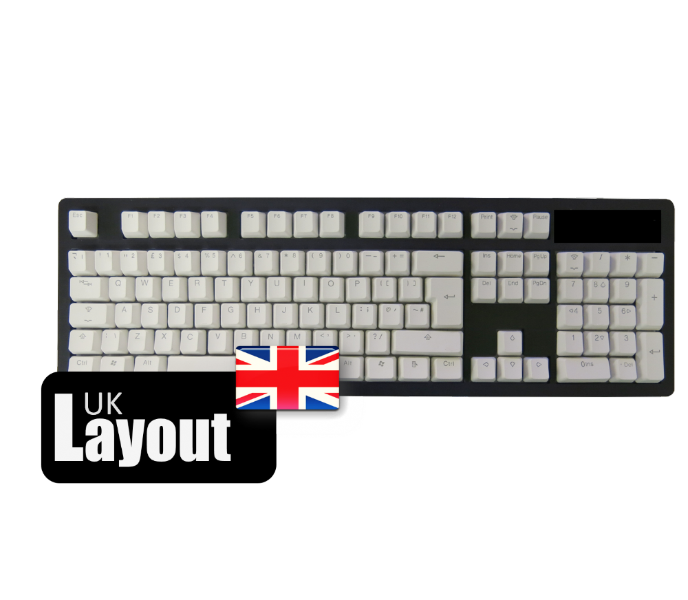 Tai-Hao ABS Backlit Double Shot Keycaps White Rose UK